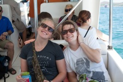 On the speedboat to the island