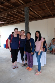 Meeting our homestay moms