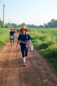 Walking to the rice paddies