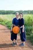 Walking to the rice paddies
