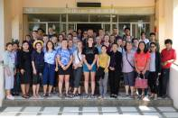 Group photo with faculty at the local Thai college