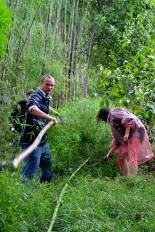Harvesting bamboo in the local forest