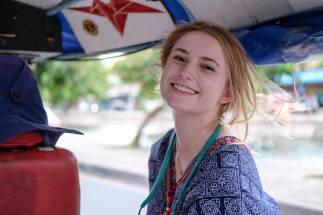 Taking a tuk-tuk ride