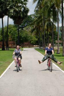Bicycling at Sukhothai
